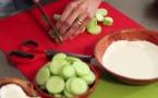 Velouté de concombre au lait de coco