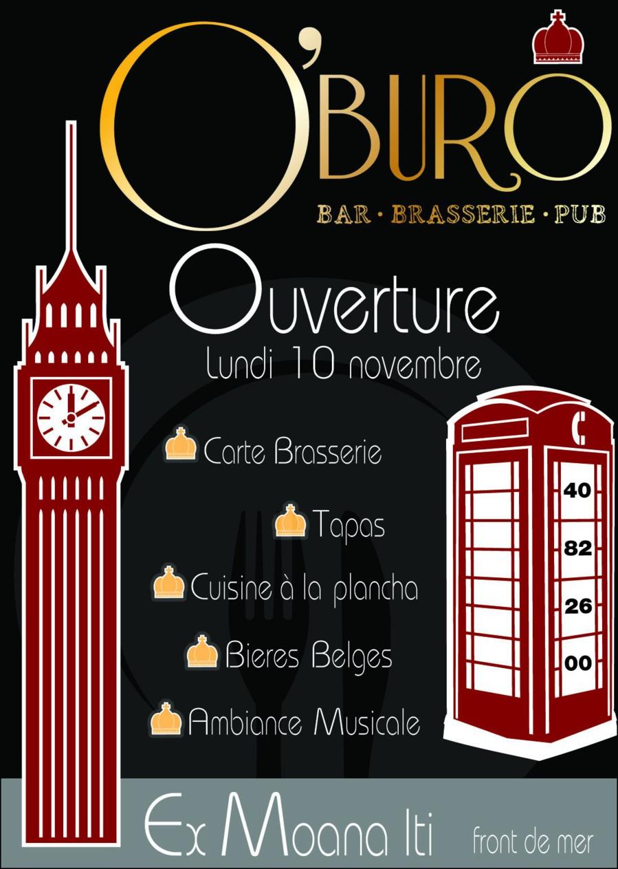 Ouverture du nouveau restaurant o 39 buro ex moana iti for O buro tapas lausanne