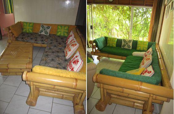 1 canape d 39 angle bambou table basse petites annonces - Canape en bambou ...