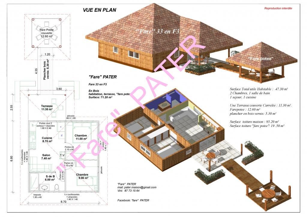 Dessinateur pour vos plans maisons et constructeur pour for Constructeur maison individuelle tahiti