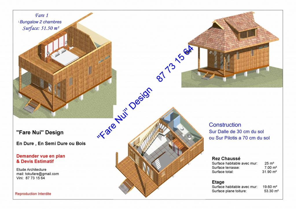 Plan pour vos projets ou r gularisation du permis for Constructeur maison individuelle tahiti