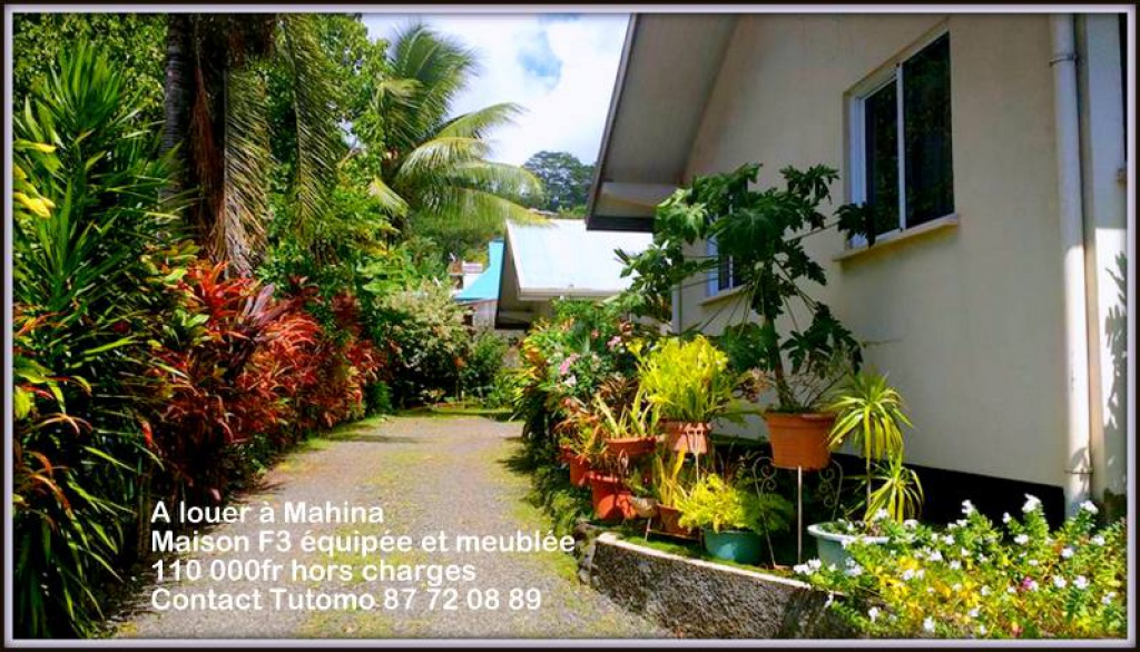 Maison f3 louer petites annonces tahiti infos les for Annonce de maison a louer