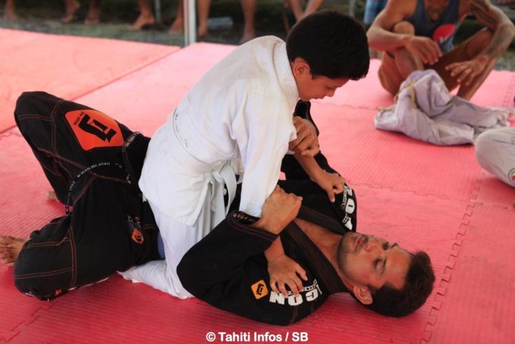 Initiation au jiu jitsu avec Michel Bourez