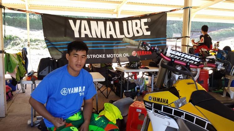 Raiarii Vonbalou est sponsorisé par Yamaha