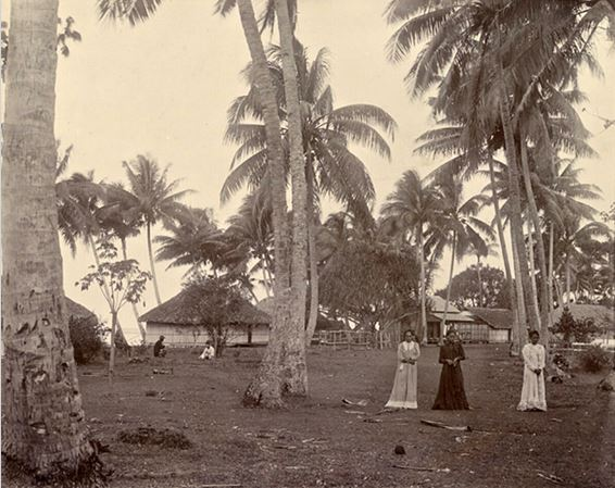 5 Village de Tautira en 1900. Coll. Franom