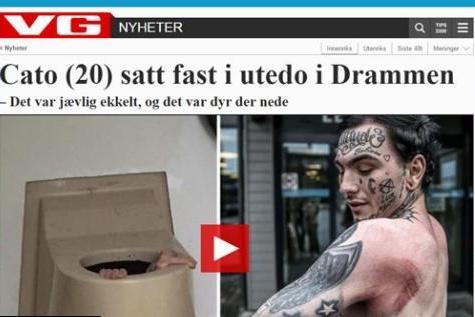 Un Norvégien se retrouve coincé au fond de toilettes publiques