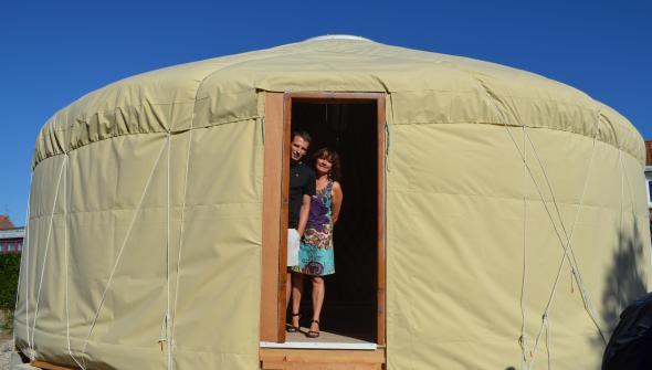 Dans un village du Nord, des CE1 vont effectuer leur rentrée...dans une yourte