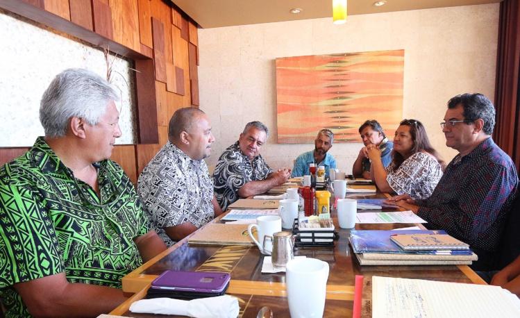 Réunion préparatoire au Sommet de l'Océan Pacifique avec l'UICN.
