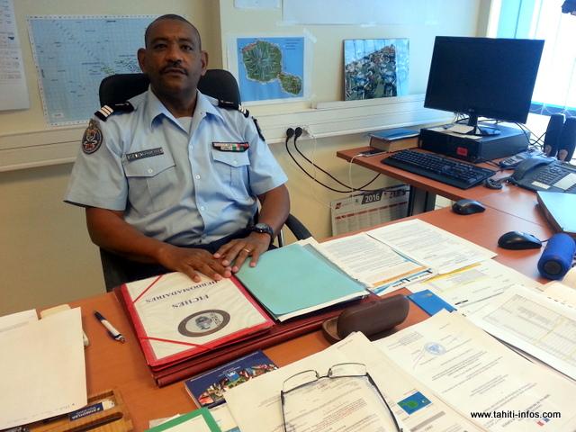 Le capitaine Olivier Faure, officier adjoint en charge de la sécurité routière pour la gendarmerie en Polynésie française.
