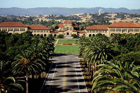 L'Université Stanford en Californie.