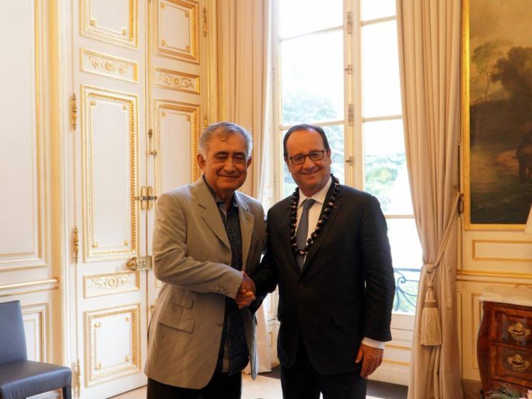 Le leader indépendantiste polynésien a été reçu par le président de la République jeudi en fin d'après-midi, au Palais de l'Elysée à Paris.