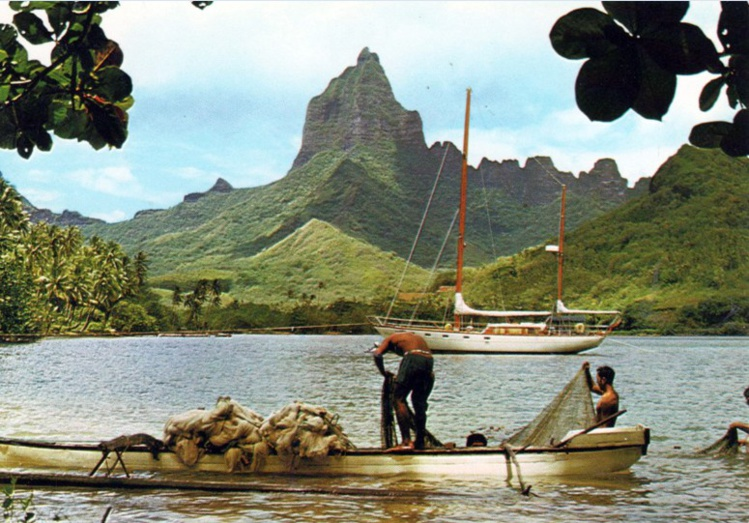 La pêche aux filets à Moorea. Edition te pari