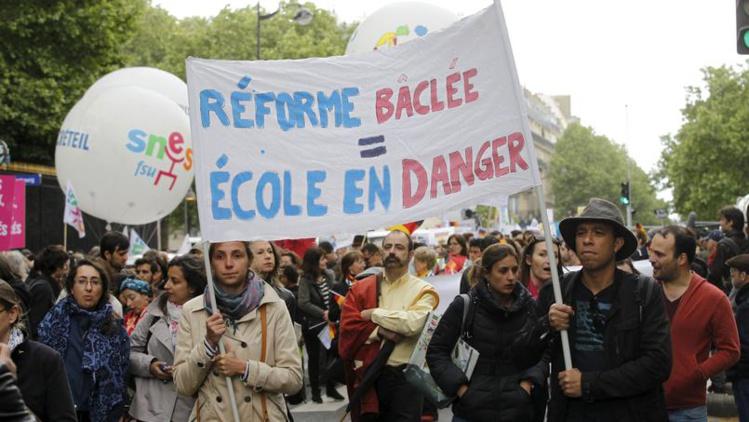 Appel à la grève des profs jeudi, un test pour la réforme du collège