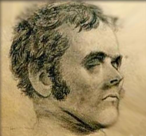 Du bagnard, reste ce portrait réalisé par un autre prisonnier, Thomas Bock (1790-1855), croquis qui montre un homme d'une parfaite banalité…