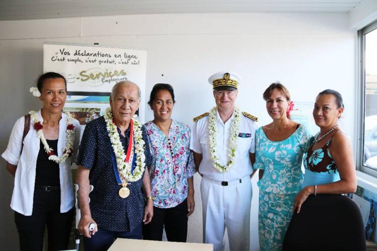 Jeudi à Paea, lors de la présentation au haut-commissaire du bureau de la CPS à la mairie de Paea.