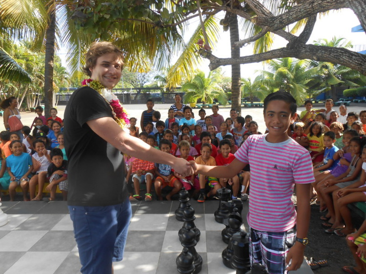 Adrien Demuth était déjà à Tahiti en novembre dernier et il a laissé un très bon souvenir à tous les jeunes joueurs qui ont croisé sa route.