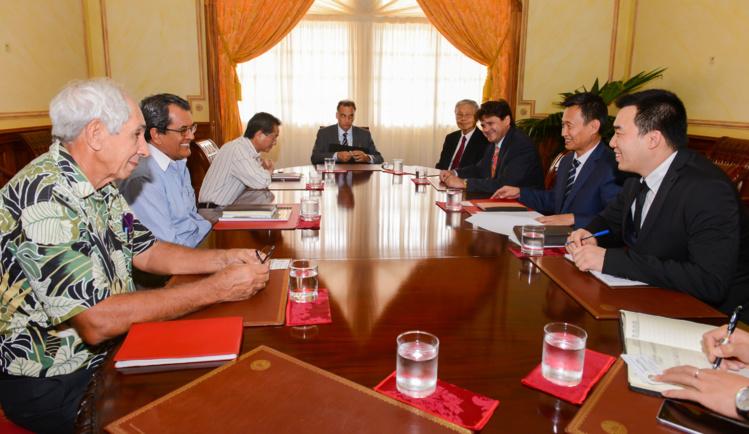 Le président s'entretient avec une délégation de China Railway