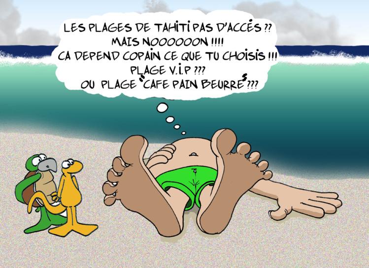 """ Les plages de Tahiti "" vu par Munoz"