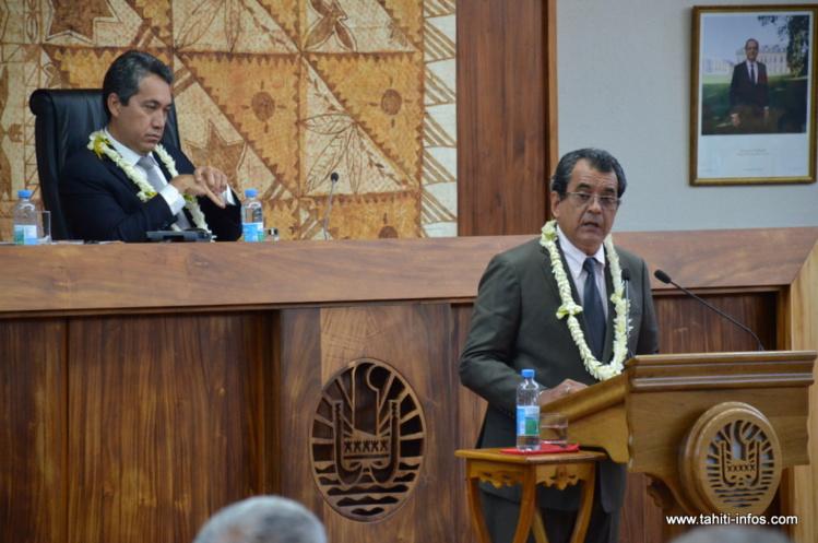 Ouverture de la session budgétaire 2016 : le discours d'Edouard Fritch