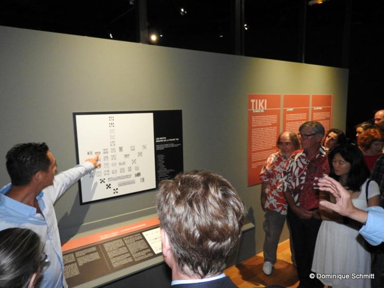 Intarissable, Tara Hiquily a été un remarquable guide pour les premiers visiteurs.
