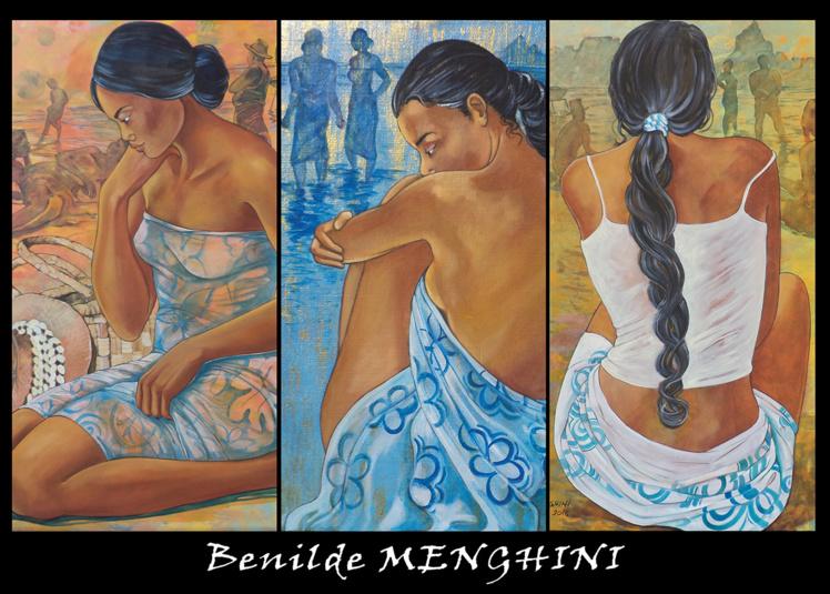 Drapées dans des paréos, les sensuelles vahine incarnent à merveille la gent féminine et invitent à la contemplation.