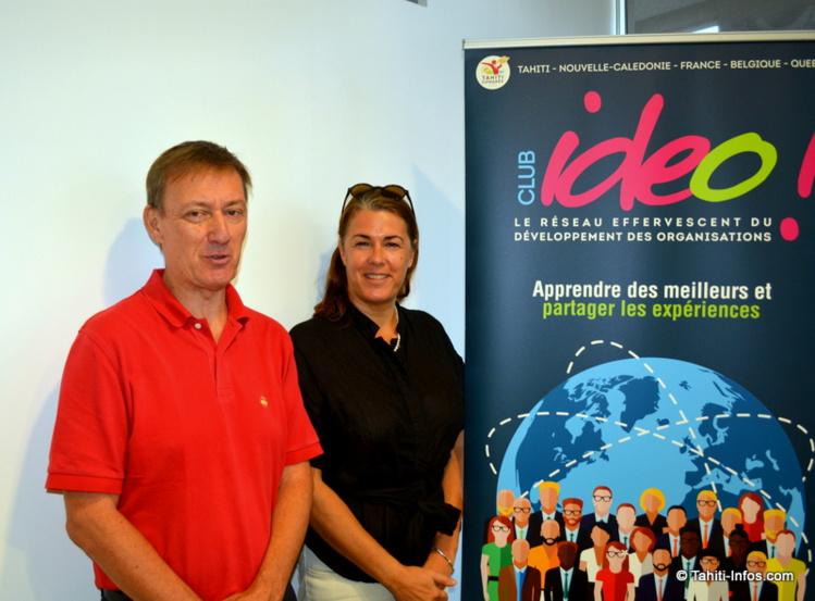 Laurent Devemy et Margot Chaptal de Chanteloup, président et vice-présidente de l'association Club Ideo.