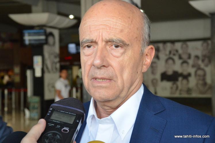 """Alain Juppé : """"En Polynésie, j'ai rencontré des Français très attachés à leur pays"""""""