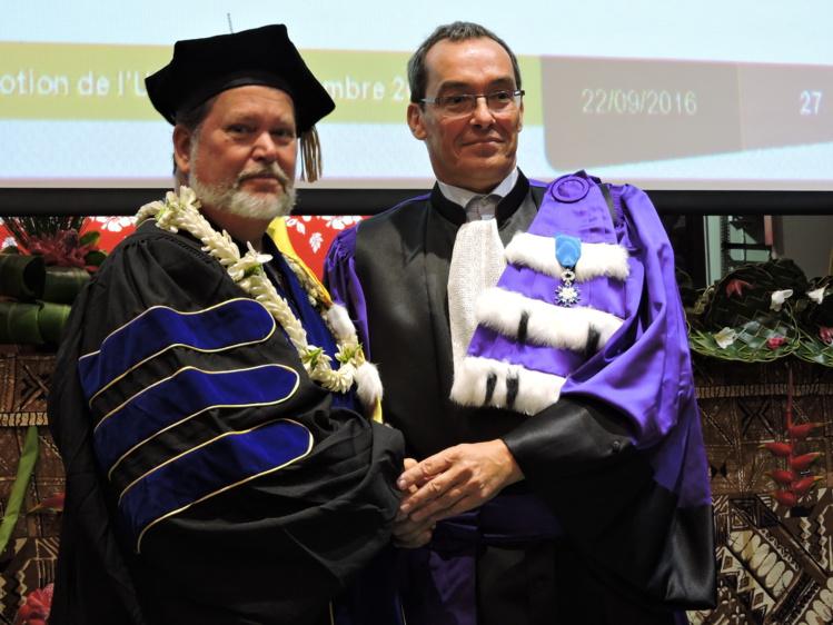 Patrick V. Kirch est depuis 20 ans un partenaire fidèle de l'Université de Polynésie. Il a participé à l'encadrement et aux jurys de plusieurs doctorants en anthropologie et en archéologie et animé plusieurs conférences sur le campus.