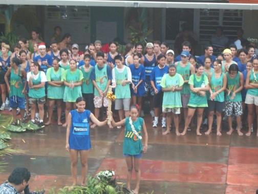 Inauguration du Lycée Raapoto le 11 aout 2000