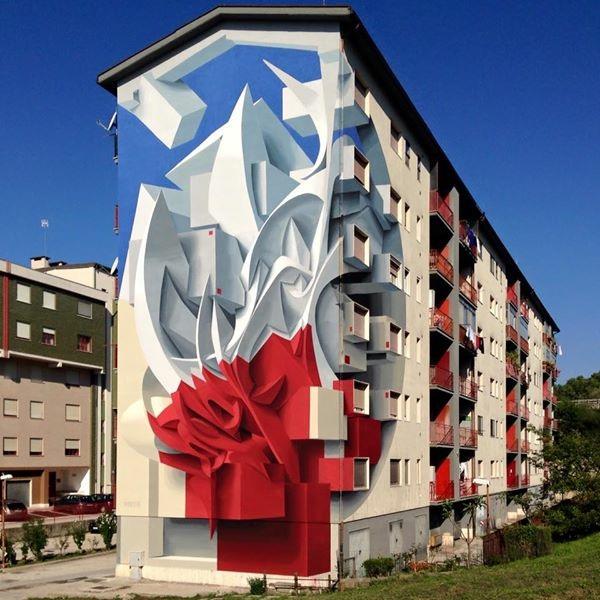 L'artiste italien Peeta est un expert du graffiti en 3D.