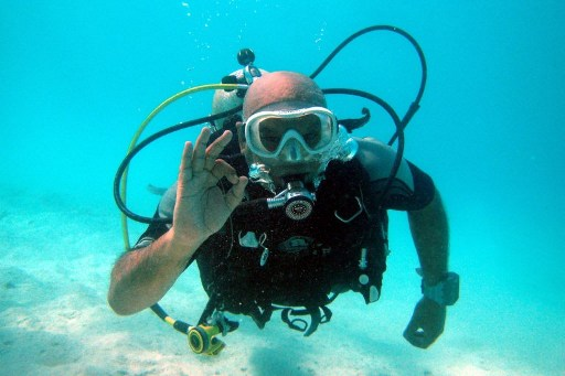 C'est la première fois que le lien est établi entre la plongée et la capacité à réduire le stress. Photo : AFP