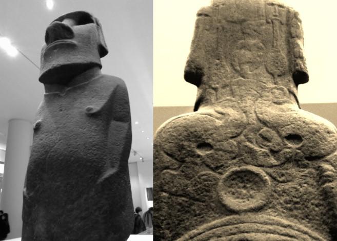 Aidé de Dutrou-Bornier, l'équipage du navire anglais HMS Topaze  enleva deux moai de l'île dont, le 7 novembre 1868, la superbe Hoa Hakananai'a, statue de basalte d'Orongo (conservée au British Museum).
