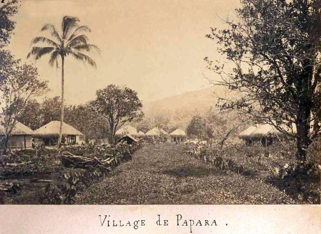 Village de Papara vers 1900. Collection Archives-pf