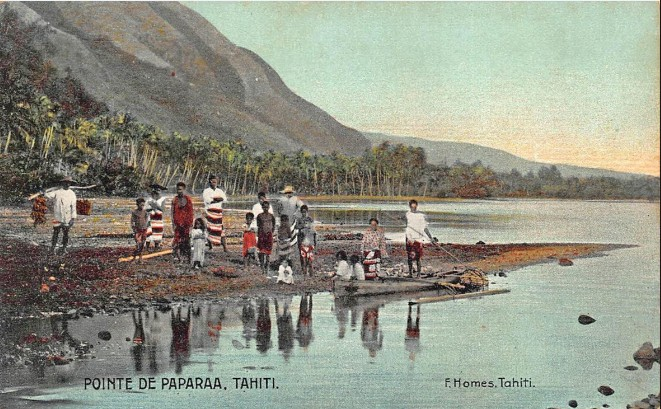 Pointe de Papara en 1905. Photo Franck Homes.