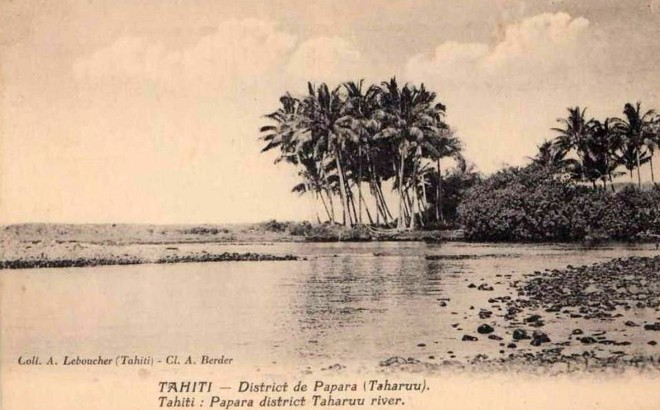 La plage Popoti à l'embouchure de la Taharuu