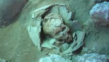 Ce crâne provient d'un vieux site funéraire de 3000 ans situé aux Vanuatu. Il est l'une des 4 sources de l'ancien ADN analysé par l'étude.