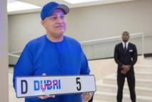 Dubaï: 8 millions d'euros pour une plaque d'immatriculation auto
