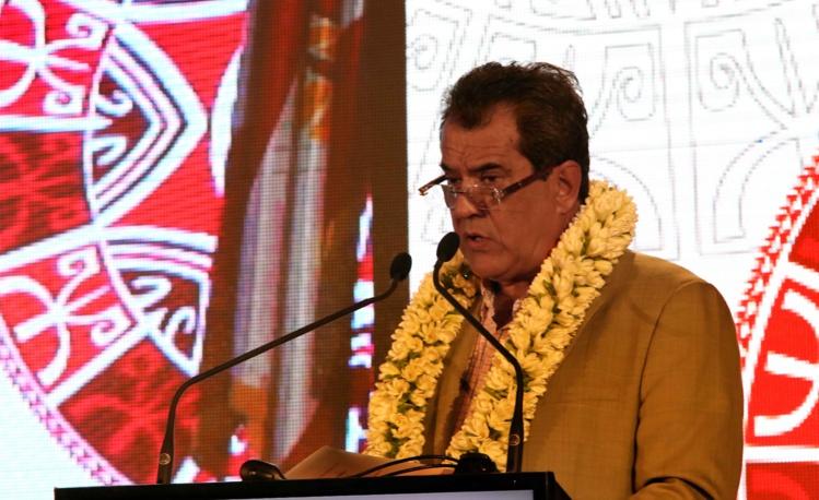 Edouard Fritch, lundi matin à l'ouverture de la 2e conférence économique de Polynésie française.