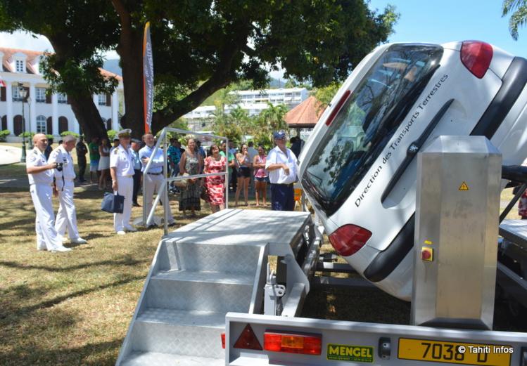 Cette JDC un peu spéciale a été organisée en partenariat avec la direction des Transports terrestres, le haut-commissariat, la mairie de Pirae, l'amiral Comsup et la gendarmerie nationale. C'était surtout l'occasion de sortir les simulateurs d'accident de la DTT !