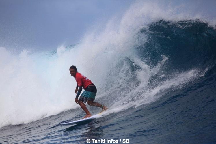 Heiarii Williams reste un des ténors du surf local