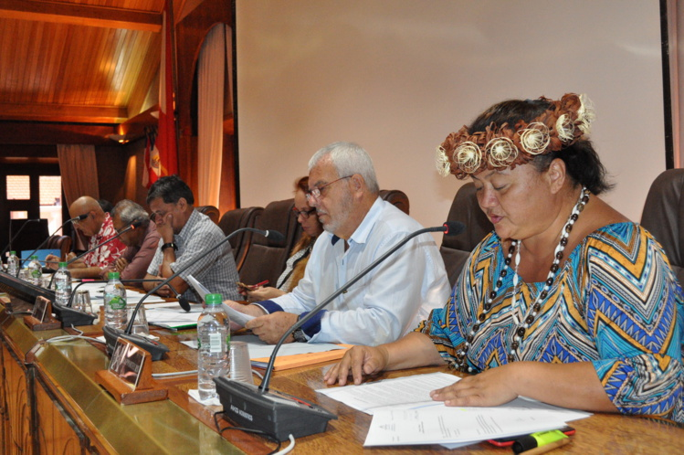 Présenté par Vaitea Le Gayic et Patrick Bagur, le projet d'avis a été adopté par 35 votes pour, zéro vote contre et deux abstentions.
