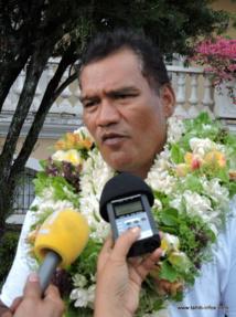Tauhiti Nena, président du parti Tau Hoturau.