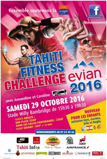 Fitness : La 12ème édition du Tahiti Fitness Challenge Evian