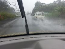 Attention sur les routes par temps de pluie.