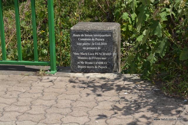 163 millions ont été investis pour la construction du pont. La première pierre a été posée en 2010, en présence de la ministre des outre-mer de l'époque, Marie Luce Penchard.