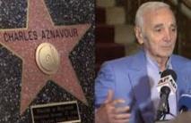 Aznavour reçoit une étoile d'honneur de la communauté arménienne à Hollywood