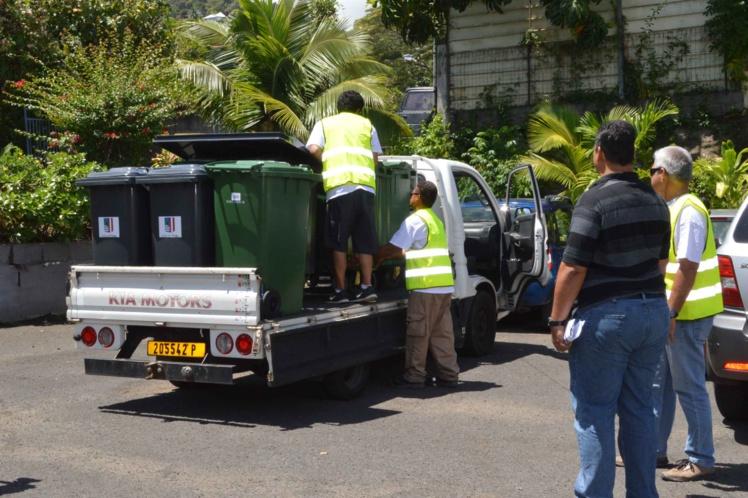La livraison a été réalisée par les équipes communales et le prestataire