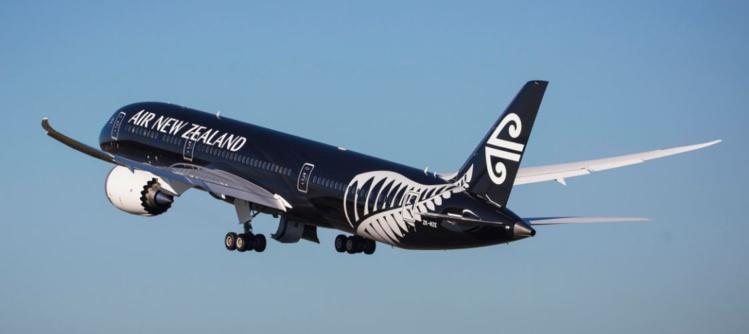 Le Dreamliner 787-9 d'Air New Zealand va atterrir à Papeete