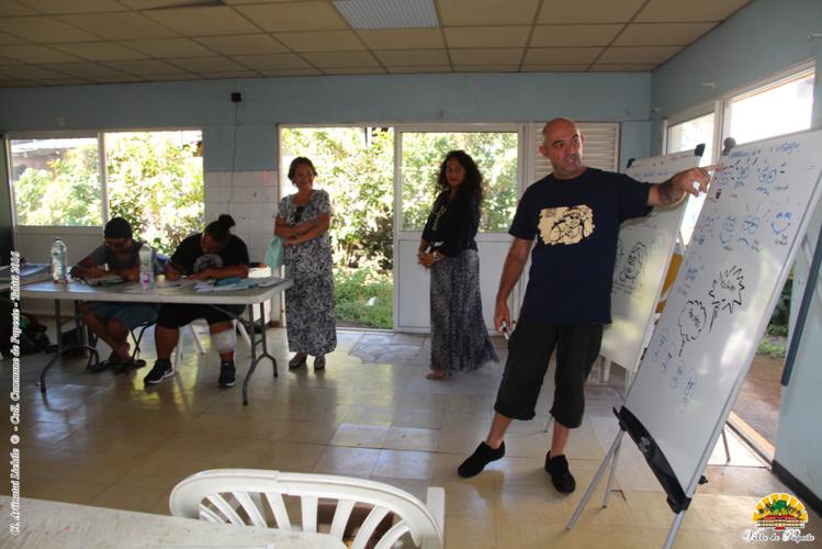 """La formation a été animée par Gotz, auteur de la bande dessinée locale """"Pito ma"""""""
