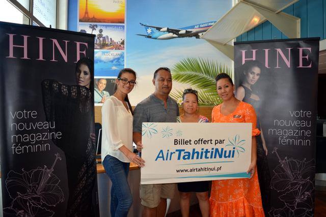 Manola et Charles s'envolent pour Los Angeles avec Hine et Air Tahiti Nui